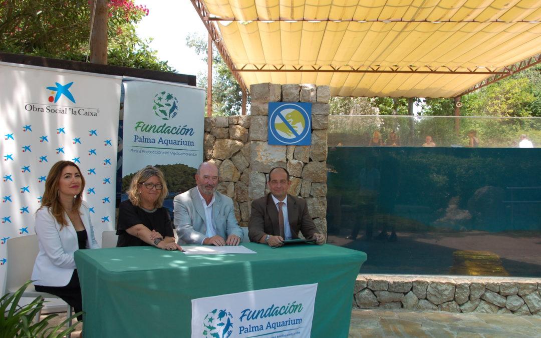 """Firmado acuerdo entre la obra social """"La Caixa"""" y la Fundación Palma Aquarium"""