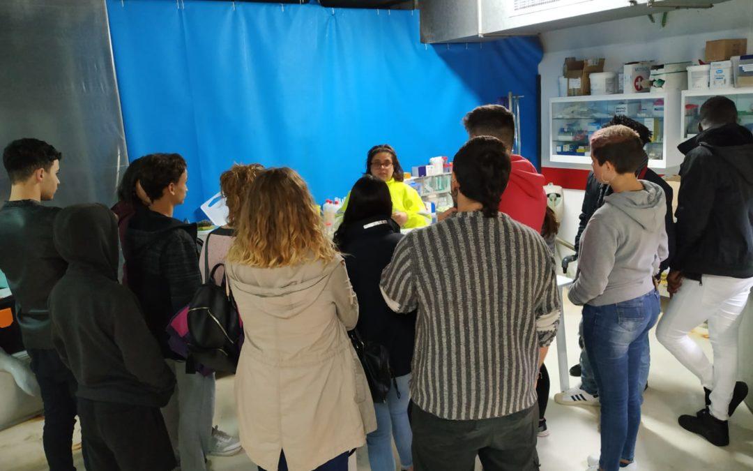 Visita de Fundació Joves Navegants a Palma Aquarium y al Centro de Recuperación